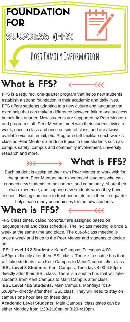 FFS Host Family Info