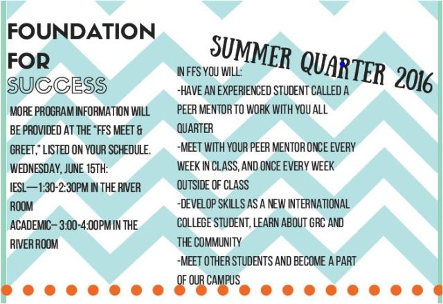 FFS Student Info.