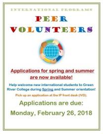Peer Volunteers2018